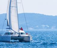 Catamaran Lagoon 380 available for charter in Marina Dalmacija
