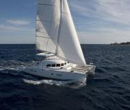 Cat Lagoon 380 S2 available for charter in Marina Porto Colom