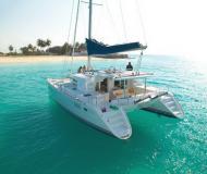 Catamaran Lagoon 440 available for charter in Port Goecek Marina