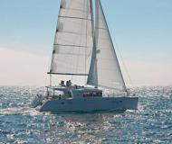 Cat Lagoon 450 available for charter in Abel Point Marina
