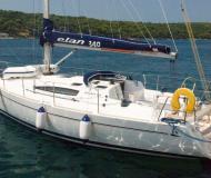 Sail boat Elan 340 for hire in Mali Losinj