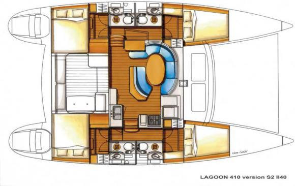 Cat Lagoon 410 S2 available for charter in Marigot-22038-0