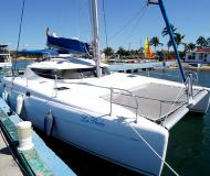 Cat Athena 38 for charter in Marina Cienfuegos