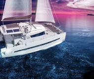 Catamaran Bali 4.0 available for charter in Marina Mallorca Nautica