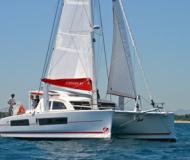Cat Catana 42 for hire in Uturoa Marina