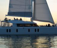 Catamaran Isara 45 available for charter in Mandraki marina