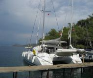 Cat Lagoon 380 for charter in Palmiye Marina