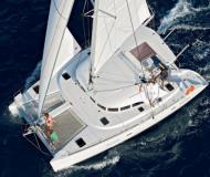 Cat Lagoon 380 available for charter in Eden Island Marina