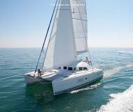 Cat Lagoon 380 S2 available for charter in Alimos Marina Kalamaki