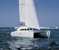 Cat Lagoon 380 S2 available for charter in Marina Ibiza