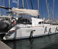 Cat Lagoon 380 S2 available for charter in Tourlos Marina