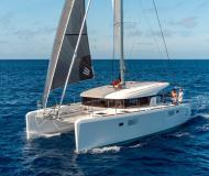 Cat Lagoon 39 available for charter in Marina Poltu Quatu