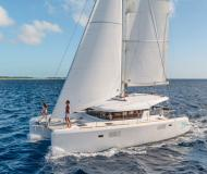 Cat Lagoon 39 available for charter in Marina Le Marin