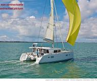 Catamaran Lagoon 400 available for charter in Hyeres Harbour