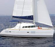 Cat Lagoon 410 S2 available for charter in Marina di Sant Elmo