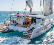 Catamaran Lagoon 42 available for charter in Marina Le Marin