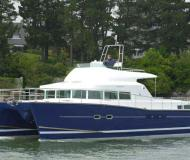 Cat Lagoon 43 available for charter in Granville Island Boatyard