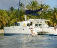Cat Lagoon 440 for rent in Marigot Bay Marina