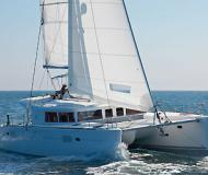 Catamaran Lagoon 450 available for charter in Finikas Marina
