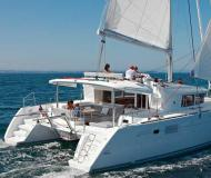 Catamaran Lagoon 450 available for charter in Missolonghi Marina