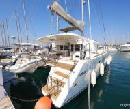 Cat Lagoon 450 available for charter in Marina Kornati