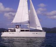 Catamaran Lagoon 450 available for charter in Marina Fort Louis