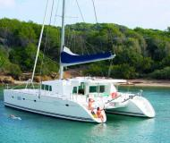 Cat Lagoon 500 available for charter in Bonifacio Marina