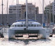 Cat Lagoon 560 for charter in Olbia