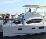 Catamaran Leopard 37 Power Cat available for charter in Marinatown Yacht Harbour
