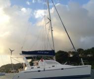 Cat Leopard 38 for hire in Marigot Bay Marina