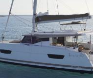 Catamaran Lucia 40 available for charter in Marmaris