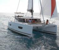 Cat Lucia 40 available for charter in Gouvia