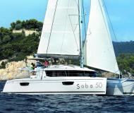 Katamaran Saba 50 Yachtcharter in Marina Praslin