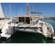 Cat Salina 48 available for charter in Gouvia Marina