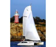 Cat Seawind 1000 for charter in Abel Point Marina
