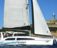 Cat Seawind 1250 available for charter in Abel Point Marina