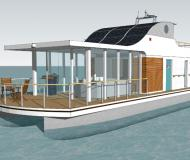 Houseboat Devin 1.5 for charter in Citymarina Stralsund