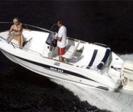 Motor boat Galia 525 for hire in Marina am Tiefen See