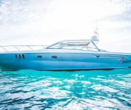 Motor yacht Priamos 1 for hire in Marina Saint Eulalia