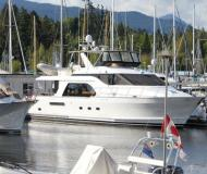 Motor yacht Queenship 64 for charter in Granville Island Boatyard