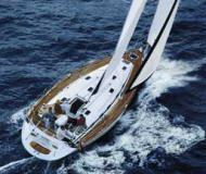 Yacht Bavaria 49 for rent in Skiathos main Harbour