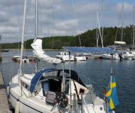 Sailing yacht Comfort 30 available for charter in Sabyvikens Marina