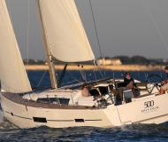 Sailing boat Dufour 500 Grand Large for hire in Marigot Bay Marina