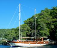 Sailing yacht Gulet for hire in Bodrum Marina Milta