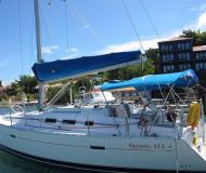 Sailing yacht Oceanis 373 for hire in Port Louis Marina