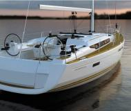 Sailing boat Sun Odyssey 469 available for charter in Gouvia Marina
