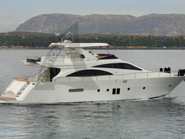 Motoryacht DOQUEVE 70 for rent in Marina Botafoch