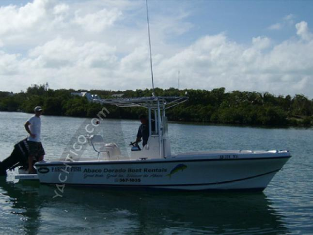 Motorboat Dusky 22 available for charter in Abaco Beach Resort and Boat Harbour