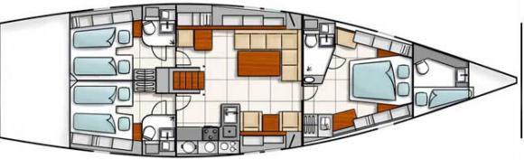 Segelyacht Hanse 540 chartern in Kastela-29205-0