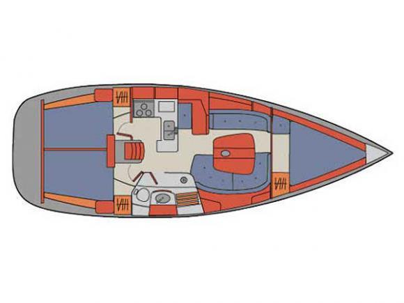 Segelyacht Oceanis 361 chartern in Palma-30978-0